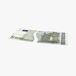 5 euro bill torn max