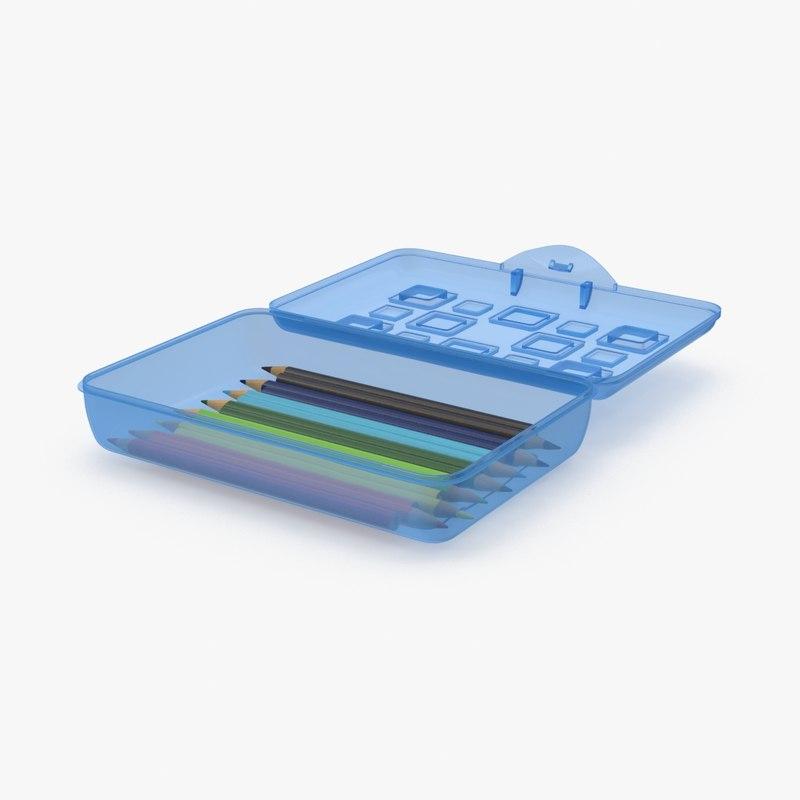 3d model of pencil box