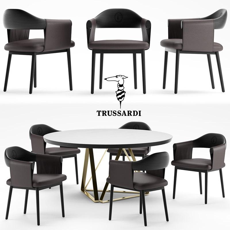 larzia chair table 3d model