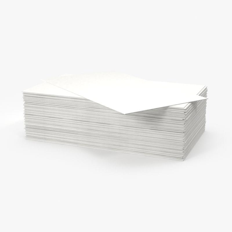 3d stack business cards model