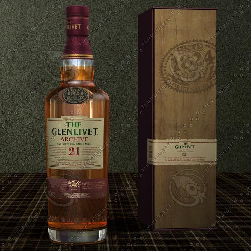 glenlivet scotch whisky single 3d model