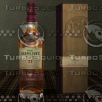 glenlivet scotch whisky single 3d model