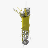 3d model offshore spar