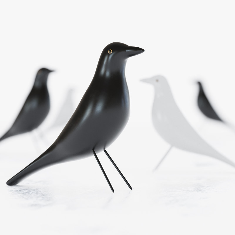 eames house bird figurine max