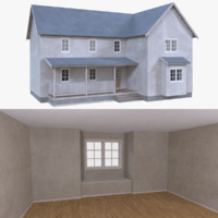 home interior house 3d obj