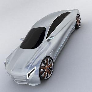 mercedes-benz f 125 3d model