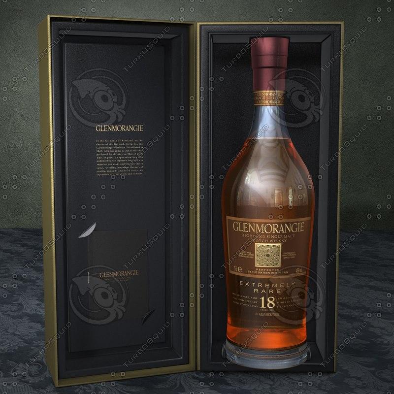 glenmorangie scotch whisky 3d c4d