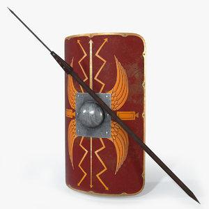 ready pilum shield obj