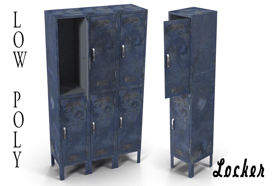 3d model lockers