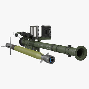 3d model fim-92 stinger set