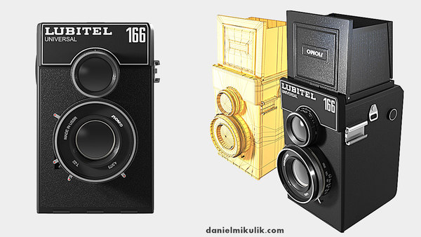old lubitel photo camera 3d model