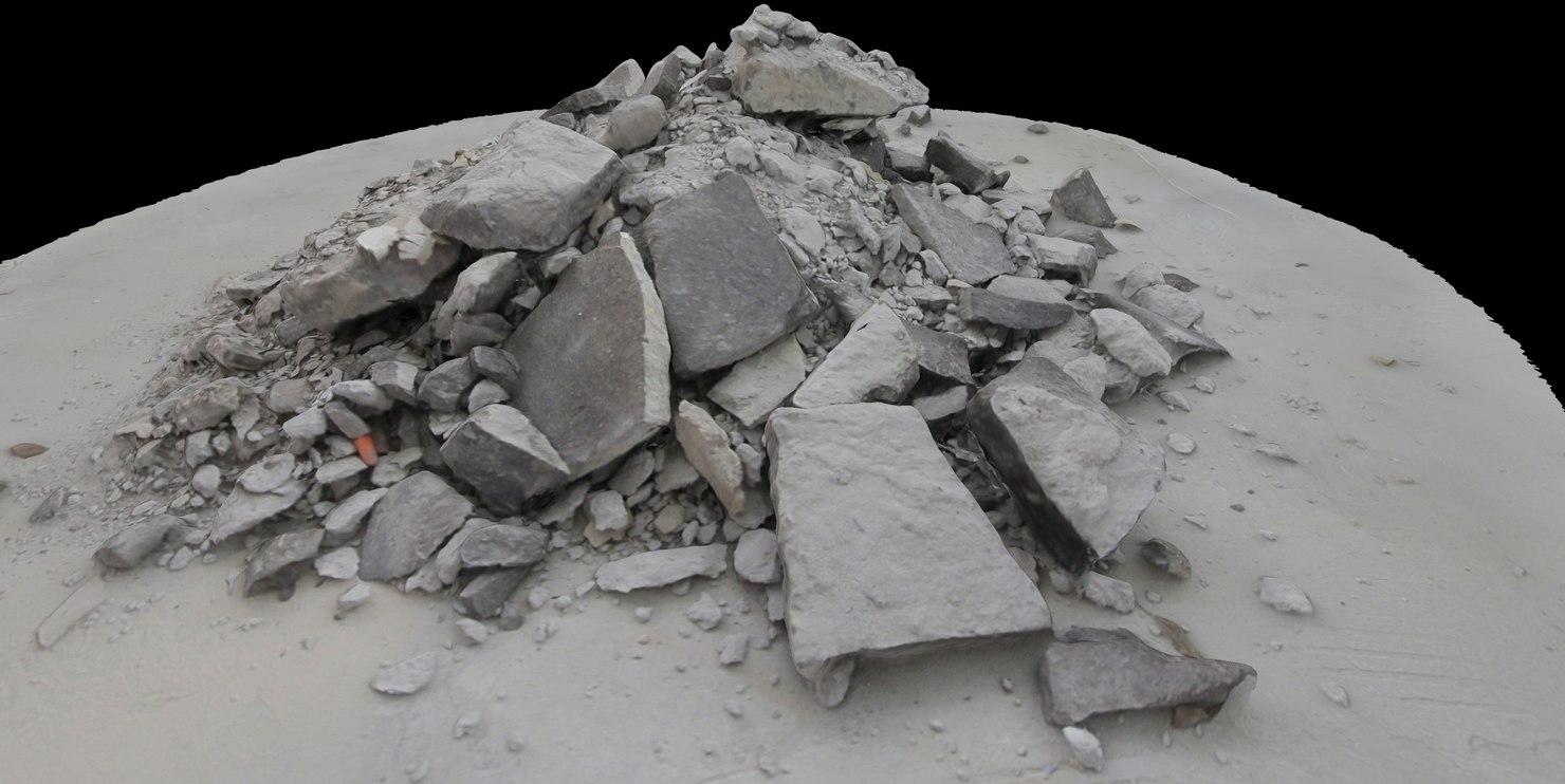 3d rubble debris