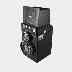 old lubitel photo camera 3d model