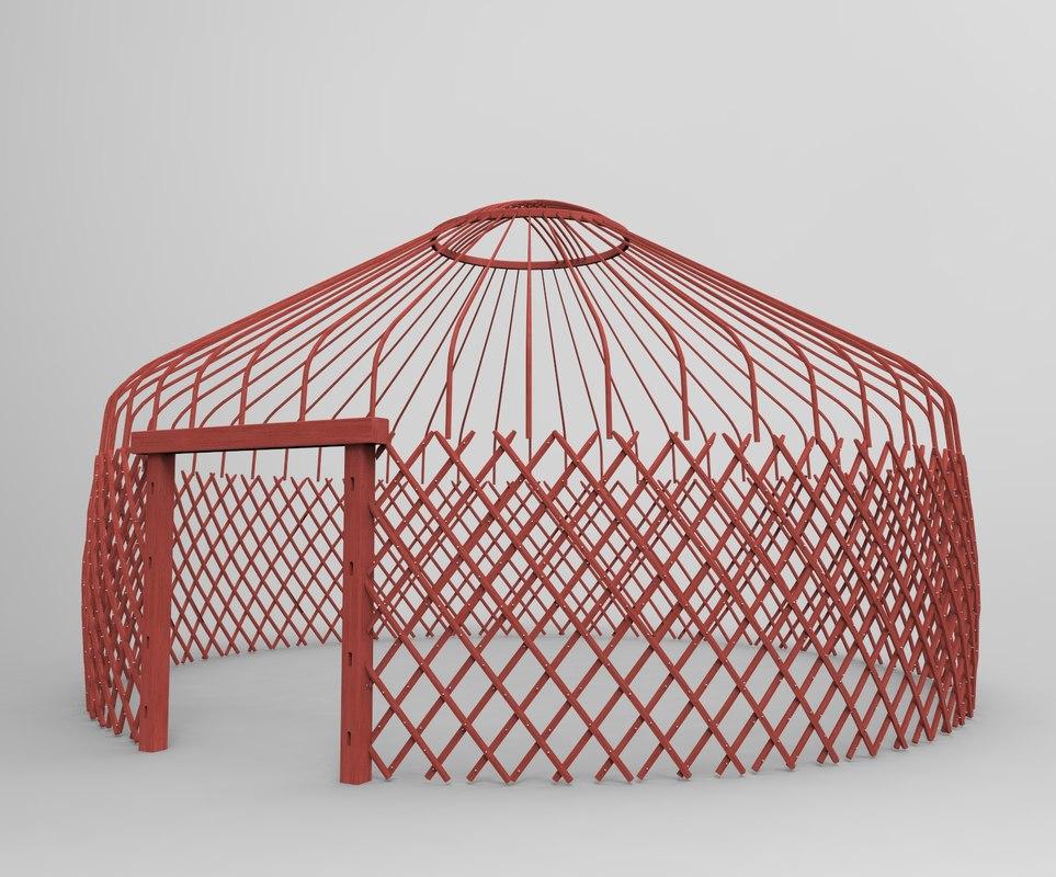 3ds kazakh yurt