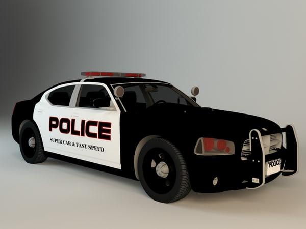 3d police car super