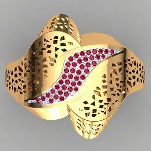 designer ring dxf