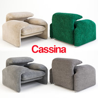 armchair cassina 675 3d max