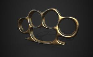 3d brass knuckle
