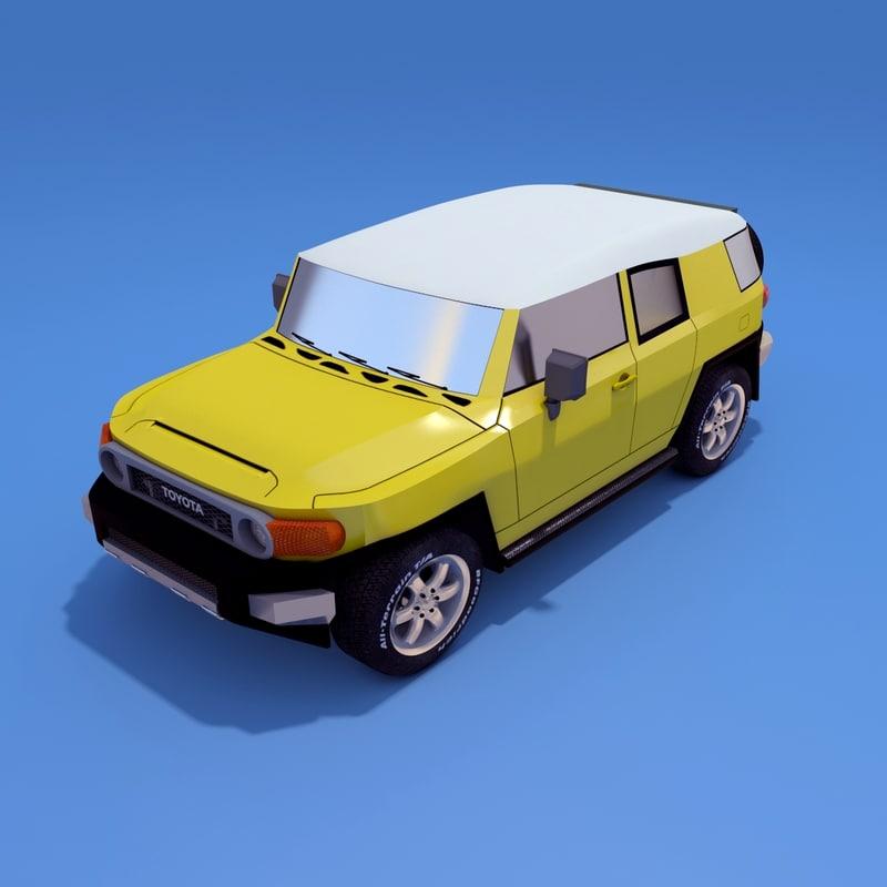 toyota fj cruiser 3d model