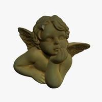 3d model angel stl printing