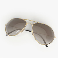 Sunglasses Aviator Gold