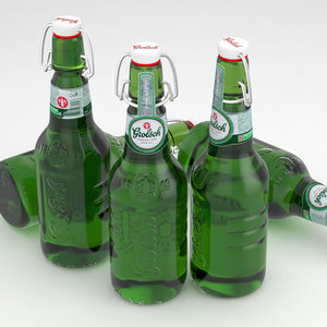 beer bottle grolsch 3d model