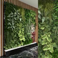 3d model green wall