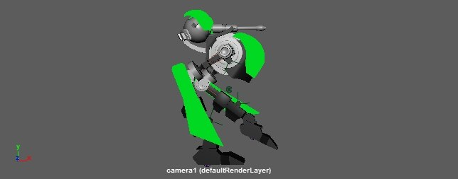 robot gun animation ma