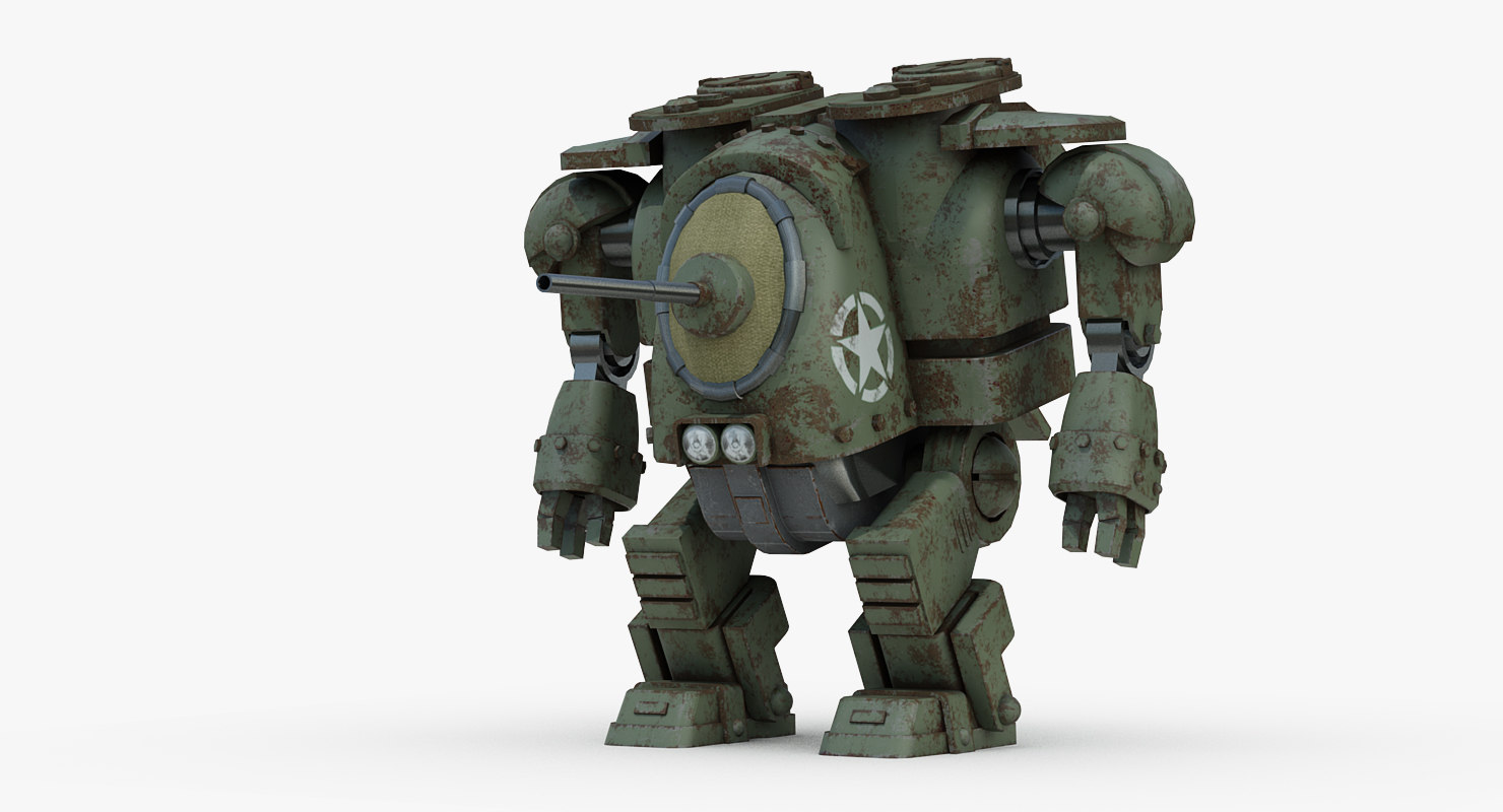 3d military m8 grizzly robot