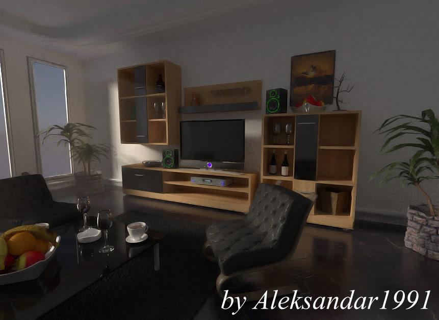 beautiful simple room 3d model