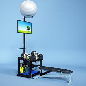 3d model cp station kiosk sport