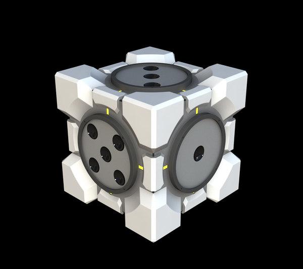 free portal 2 cube dice 3d model