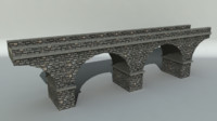 stone bridge 3d fbx