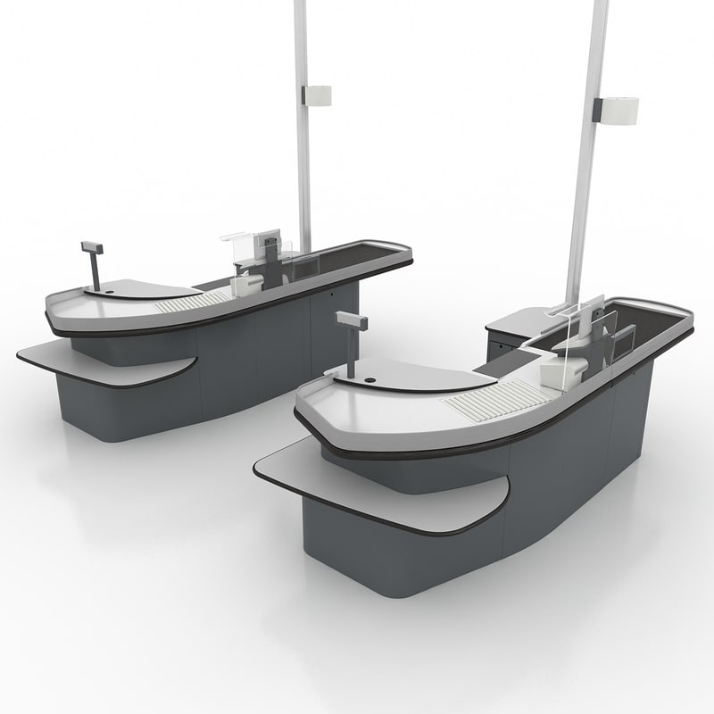 checkout type 2 3d model