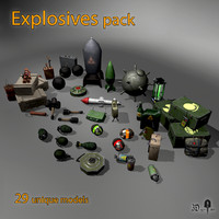 3d pack bombs explosives model