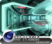 c4d sci-fi area