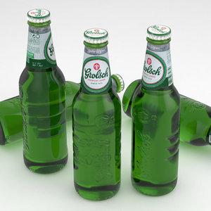 3d beer bottle grolsch 330ml model