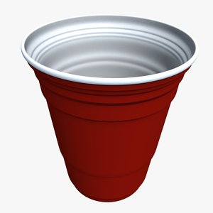 3d model red solo cup