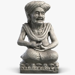 3d 3ds statue old woman