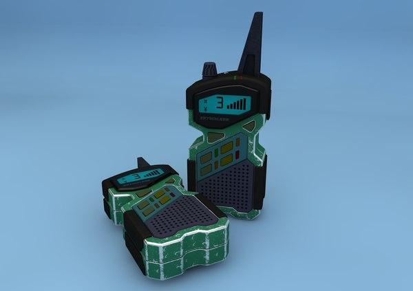 walkie talkie 3d c4d