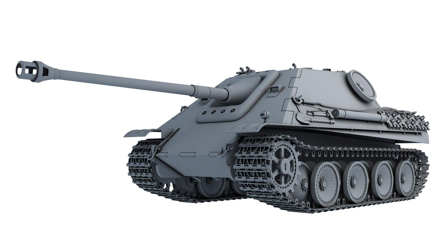 jagdpanther 3d model