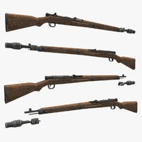 3d model type 99 rifle gun