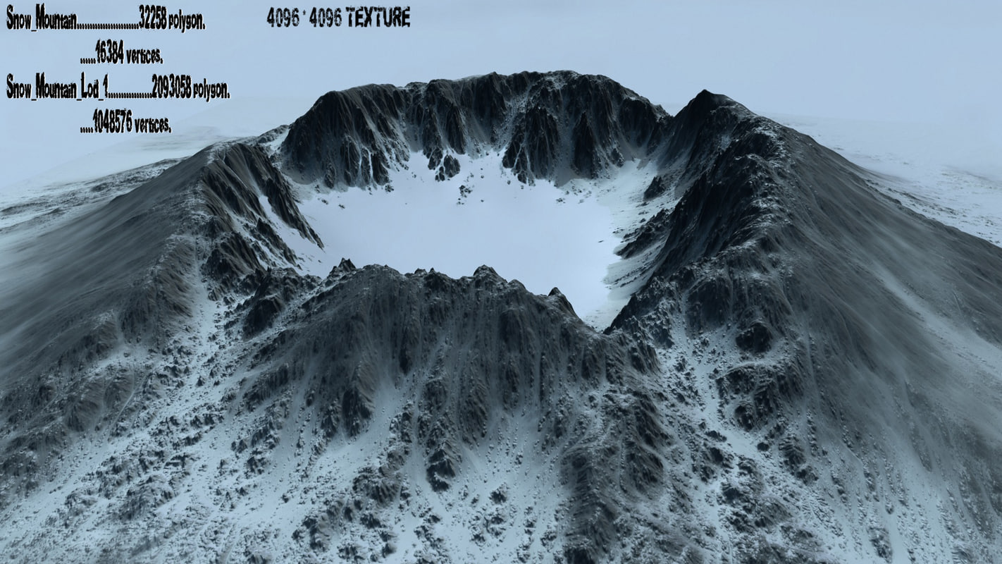 3d model snow mountain 1