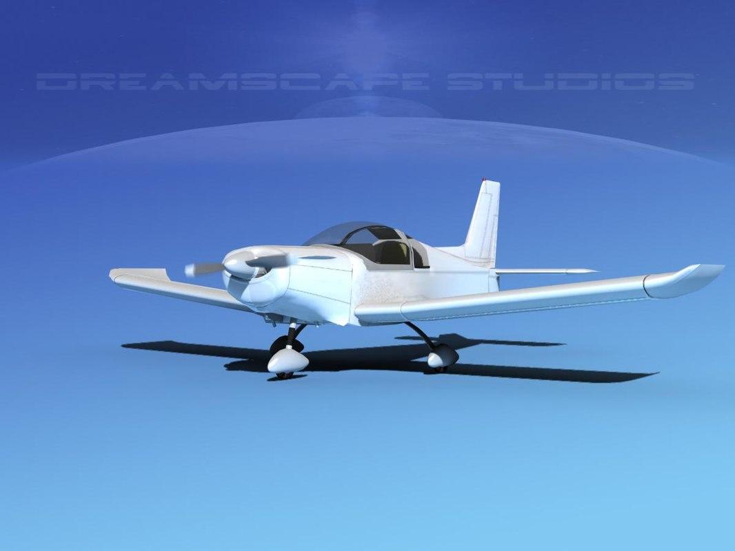 3d model propeller zlin 242 aircraft