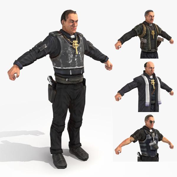 pistol packin priests - 3d fbx