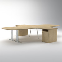 3d large modular office desk