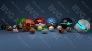 3d pokeballs pokemon model