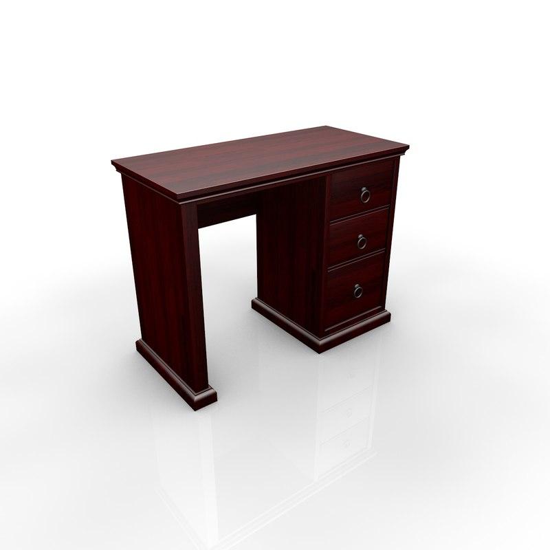 classic mahogany desk 3d model
