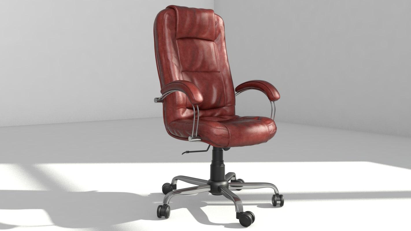 3d chair computer model