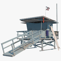 3d surf lifeguard model